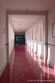 Interior footbridge to spa